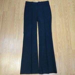 Theory black wool trouser pants sz 2